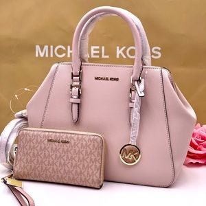 Michael Kors Charlotte Satchel and Wallet Set